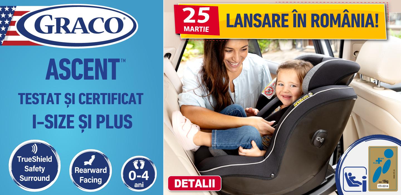 Lansare scaun auto Graco Ascent